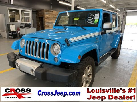 Pre-Owned 2017 Jeep Wrangler Unlimited Sahara With Navigation & 4WD